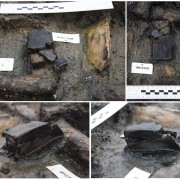 Wooden box fragments