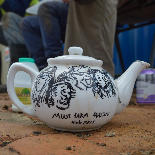 One of the Must Farm project's teapots.