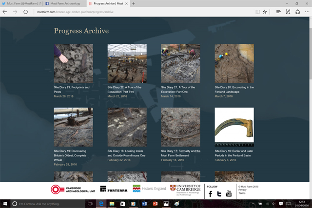 Our progress section of the website has been expanding weekly throughout the project. We're planning on continuing these diaries into post-excavation.